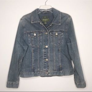 Eddie Bauer stretch denim jean jacket 286